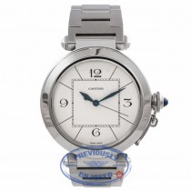 Cartier Pasha De Cartier Automatic 41MM Stainless Steel White Dial W31072M7 2TDE9N - Beverly Hills Watch Company Watch Store