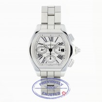 Cartier Roadster Chronograph Stainless Steel Silver Dial W6206019 8YNZDD