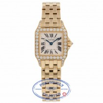 Cartier Santos Demoiselle Small Yellow Gold Diamond Bezel  WF9001Y7 RQGHIU - Beverly Hills Watch Company Watch Store