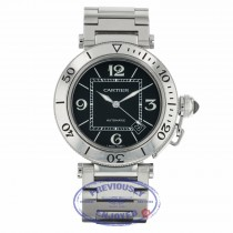 Cartier Pasha Seatimer 40.5mm Automatic Black Dial Stainless Steel W31077M7 KMDLZ2 - Beverly Hills Watch