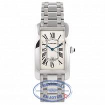 Cartier Tank American White Gold Ladies Watch W26019L1 QKGMMY - Beverly Hills Watch Store