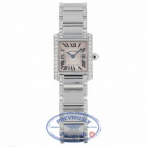 Cartier Tank Francaise 18kt White Gold Diamond Bracelet WE1002SF UXNPH5 - Beverly Hills Watch Company