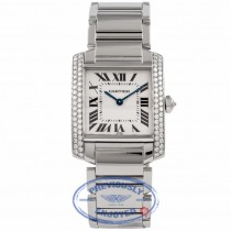 Cartier Tank Francasie Medium Custom Diamond Bezel Set 2301 WFI4LX - Beverly Hills Watch Company Watch Store