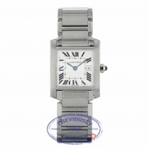 Cartier Tank Francaise Midsize Stainless Steel Quartz Silver Dial W51011Q3 ZN3P4R - Beverly Hills Watch Company