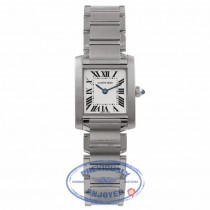 Cartier Tank Francais Small Stainless Steel Silver Dial W51008Q3 7WZ170 - Beverly Hills Watch Company Watch Company