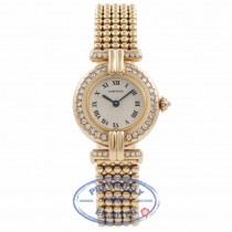 Cartier Vendome Ladies 18k Yellow Gold Diamond Bezel CI6YMI - Beverly Hills Watch Company Watch Store