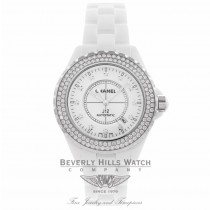 Chanel J12 42MM White Ceramic Diamond Bezel H2013 EZQLGA - Beverly Hills Watch Company Watch Store