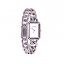 Chanel Premiere Diamond Bezel White Mother of Pearl Dial H3255 DAWCR4 - Beverly Hills Watch Company