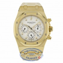Audemars Piguet Royal Oak 39mm Chronograph Yellow Gold Silver Dial 25960BA.00.1185BA.01 - Beverly Hills Watch