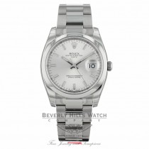 Rolex Date 34mm Stainless Steel Watch 115200 4SB5IU - Beverly Hills Watch Company Watch Store