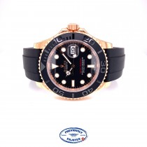 Rolex Yacht-Master 40mm Everose Oysterflex 116655 DQQ0K8- Beverly Hills Watch Company