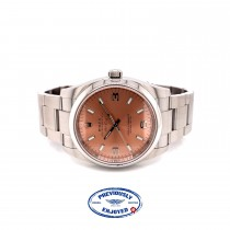 Rolex Air King 34mm Stainless Steel Pink Dial 114200 DY37QM - Beverly Hills Watch Company