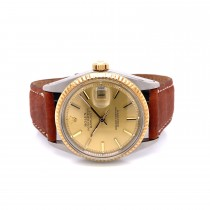 Rolex DateJust 36mm 18K Yellow Gold and Stainless Steel Vintage 1601 E3SWTT - Beverly Hills Watch Company