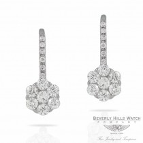 Naira & C Diamond White Gold Rosette Earrings HD04KD - Beverly Hills Jewelry Store