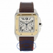 Cartier Santos 100 18kt Yellow Gold and Steel Chronograph XL W20091X7 - Beverly Hills Watch