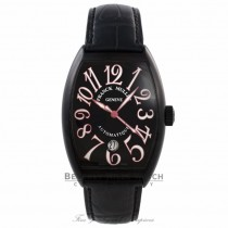 Franck Muller Curvex Casablanca Black PVD Case Black Dial Alligator Strap 7851 SC DT NR RT8VJH - Beverly Hills Watch Company Watch Store