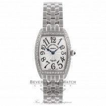 Franck Muller Curvex Ladies Diamond Bezel Stainless Steel 1752 QZ D BMUN2G - Beverly Hills Watch Company Watch Store
