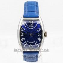 Franck Muller Curvex White Gold Blue Dial Watch 5850 SC