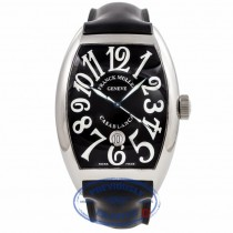 Frank Muller Gents Casablanca Black Dial Stainless Steel 8880CDTACB 5B65C4 - Beverly Hills Watch Company Watch Store