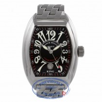 Franck Muller King Conquistador Stainless Steel Black Dial 8005 SC King 6ENWF5 - Beverly Hills Watch Company Watch Store
