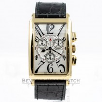 Franck Muller Long Island Yellow Gold Chronograph Watch 1100CC DT QZ Beverly Hills Watch Company