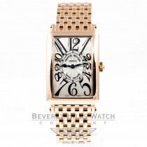 Franck Muller Long Island 18K Rose Gold Bracelet Silver Arabic Numeral Dial Ladies Watch 952QZ Beverly Hills Luxury Watch Store