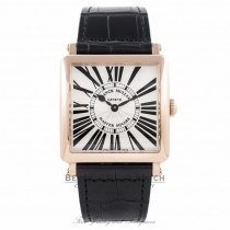 Franck Muller Master Square Quartz Ladies 18k Rose Gold Silver Dial 6002 M QZ R - UN55X5 - Beverly Hills Watch Company Watch Store
