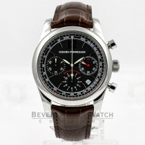 Girard Perregaux Chronograph Flyback Stainless Steel Watch 360-49580-11-651-BA6A  Beverly Hills Watch Company
