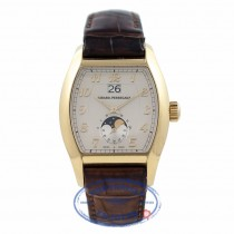 Girard Perregaux Richeville Large Date and Moonphase 18k Yellow Gold 27600-52-121-BACA VEMYGY - Beverly Hills Watch Company Watch Store