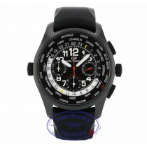 Girard Perregaux WW.TC Shadow Flyback Chronograph 43MM Ceramic Titanium Black Dial Black Rubber Strap 49820-32-611-FK6A 56E9EE - Beverly Hills Watch Company