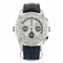 Girard Perregaux World Timer WW TC Silver Dial Chronograph 43mm 49805-11-152-BA6A FV6W9W - Beverly Hills Watch
