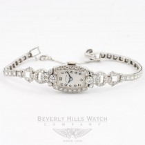 Hamilton Vintage Ladies White Gold and Diamond Watch Beverly Hills Watch Company Vintage Watches