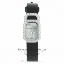 "Harry Winston ""Links Signature"" White Gold Mother of Pearl Dial HJTQHM18WW036 V407E2 - Beverly Hills Watch"