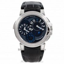 Harry Winston Ocean Dual Time 18k White Gold 400/MATZ44WL.K1 K6NCVI - Beverly Hills Watch Company Watch Store