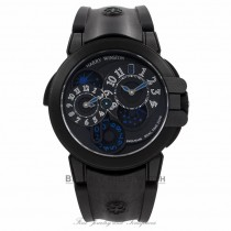 Harry Winston Ocean Dual Time Black Edition 400/MATZ44ZKC.K2 - Beverly Hills Watch Company Watch Store