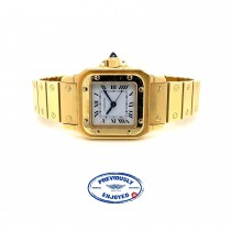 Cartier Santos Galbee Ladies Yellow Gold Automatic Watch HK3H4Z - Beverly Hills Watch Company