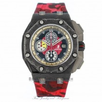 Horus Red Camouflage Rubber Audemars Piguet 44mm Strap 98L0TJ - Beverly Hills Watch
