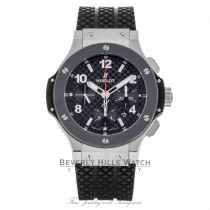Hublot Big Bang Classic Stainless Steel and Ceramic Chronograph Watch 301.SB.131.RX  EP175W - Beverly Hills Watch Company