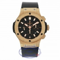 Hublot Big Bang Evolution 44MM 18k Rose Gold Automatic Black Dial Chronograph Black Strap 301.PX.1180.RX E3Q46V - Beverly Hills Watch Company