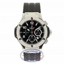 Hublot Big Bang 44MM Stainless Steel Diamond Bezel Black Dial 301.SX.130.RX M5J194 - Beverly Hills Watch Company