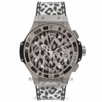 Hublot Big Bang Snow Leopard 41MM White Gold & Stainless Steel 341.SX.7717.NR.1977 XMLV5E - Beverly Hills Watch Store
