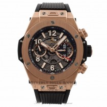 Hublot Big Bang Unico Chronograph 45MM Titanium Rose Gold Skeleton Dial Rubber Strap 411.OX.1180.RX 2D4KY3 - Beverly Hills Watch Store