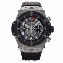 Hublot Big Bang Unico Chronograph 45MM Titanium Ceramic Bezel Skeleton Dial Rubber Strap 411.NM.1170.RX AE1JDU  - Beverly Hills Watch Store