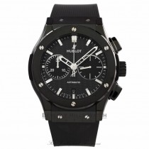 Hublot Classic Fusion Black Magic Chronograph 45MM Ceramic Black Dial Rubber Strap 521.CM.1770.RX H0AWVE - Beverly Hills Watch Store