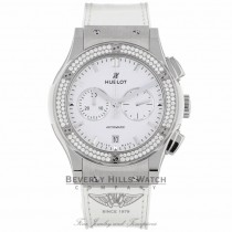 Hublot Classic Fusion Chronograph Titanium 42mm Diamond Bezel 541.NE.2010.LR.1104 P2ZPAL - Beverly Hills Watch Company