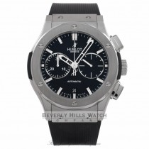 Hublot Classic Fusion Titanium Chronograph Black Rubber Strap 521.NX.1170.RX H2RQQ3 - Beverly Hills Watch Company Watch Store
