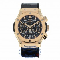 Hublot Classic Fusion Aero Chronograph 45MM 18k Rose Gold Black Dial 525.OX.0180.LR XVZDX7 - Beverly Hills Watch Company