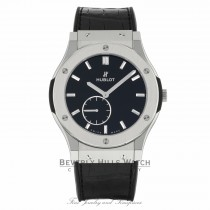 Hublot Classic Fusion 45mm Black Dial Titanium 515.NX.1270.LR JDE2TL - Beverly Hills Watch