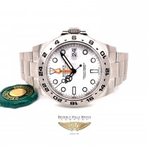 Rolex Explorer II Stainless Steel 42MM White Dial Polar 216570 HY9E9J - Beverly Hills Watch Company