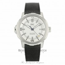 IWC Aquatimer 42MM Stainless Steel Silver Dial Black Rubber Strap IW329003 6NL1XA - Beverly Hills Watch Company